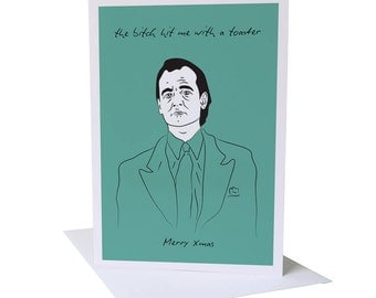 Scrooged Christmas Greeting Card