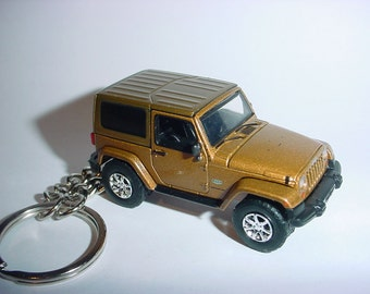 3D Jeep Wrangler custom keychain by Brian Thornton keyring key chain finished in bronze racing trim 4x4 offroad ready mission truck