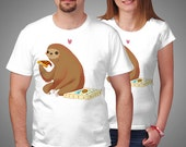 pizza sloth true happiness t-shirt tee