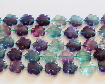 "Natural flowers fluorite crystal beads,natural gemstone beads,healing crystal beads,15.5"" full strand"
