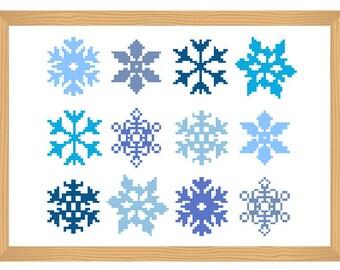 snowflake cross stitch pattern, snowflake, simple, cross stitch pattern, snowflake pattern, winter cross stitch, pdf pattern