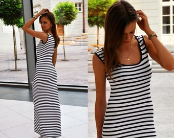 MAXI Dress in Sailor Stripes