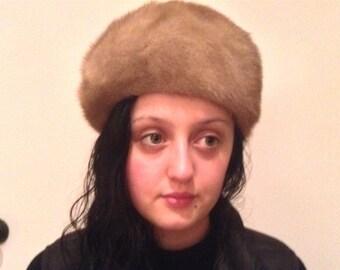 """Mink pixie hat Sable(19.5-21"""")"""