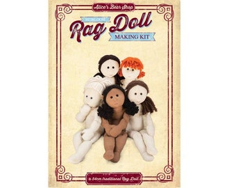 Pattern and Instructions - Traditional  Rag Doll Body - to make 54cm Rag Doll.