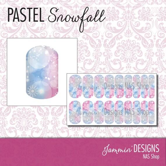 Pastel Snowfall NAS (Nail Art Studio) Design