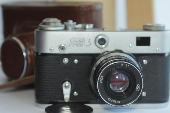 USSR Camera FED-3 type 2 & Industar-61 2,8/52 Soviet ж