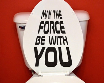 funny toilet cover decal - force