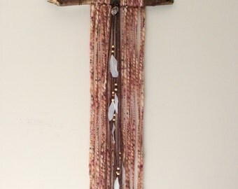 Long Bohemian Feather Wall Hanging
