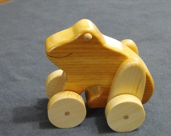Wooden Toy Frog