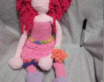 hand maid knit. .poupee handmade .crochet