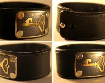Ingress Resistance Bracelet leather + brass