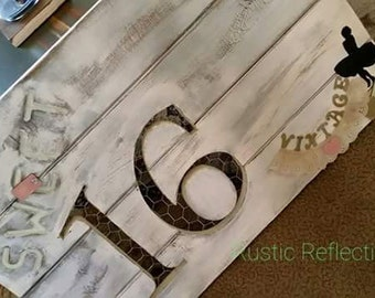 Rustic Heart and EST Date Keepsake Guestbooks by Rustic Reflections