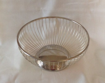 Wire Fruit Bowl Silver Plate