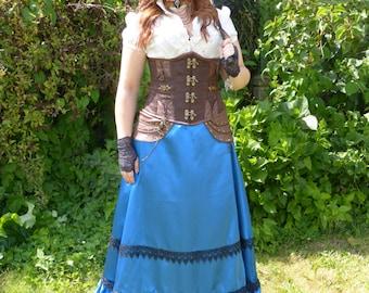 Victorian Steampunk, bustle skirt skirt
