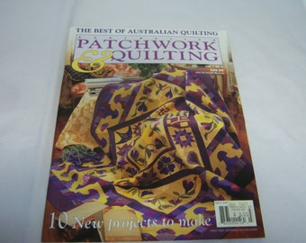 Australian Patchwork and Quilting, The Best of Australian Quilting,  Vol 7, Number 3, 10 New Projects, March 2000, Paperback Magazine