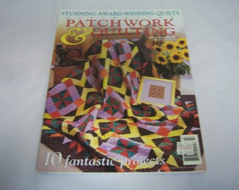 Australian Patchwork and Quilting Magazine, Vol 6, # 1, Ten Projects, Award-Winning Quilts. Quilt Patterns, Very Good Condition