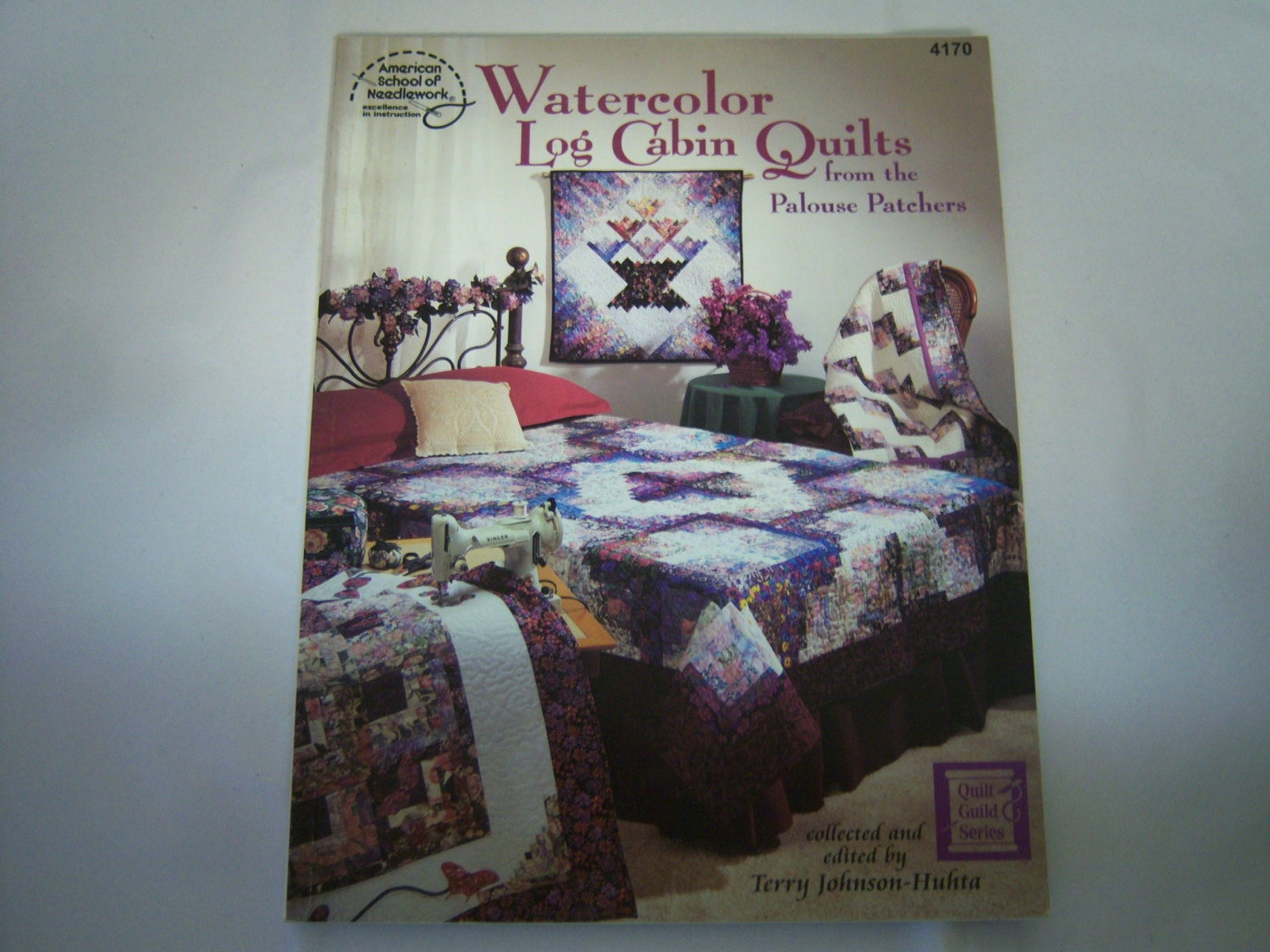 Book Cover Watercolor Quilts ~ Watercolor log cabin quilts book by palouse whatusedtobenew