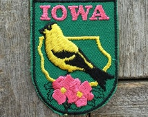 Iowa Vintage Souvenir Travel Patch from Voyager