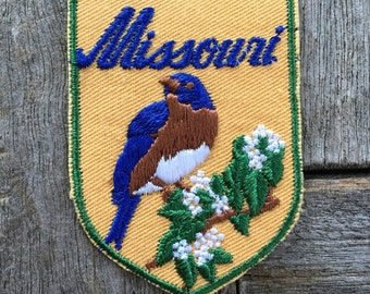 Missouri Vintage Souvenir Travel Patch from Voyager