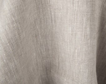 Natural flax European linen fabric - Gray linen fabric by the half yard