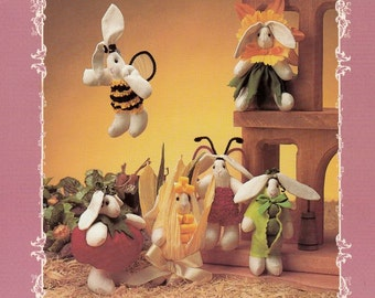 Bitti Bunnies The Garden Sewing Pattern by Wimpole Street Creations - Home Decor Sewing Patterns - Decorative Doll Patterns