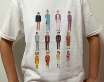 Wes Anderson movie characters collection - Unisex T-Shirt