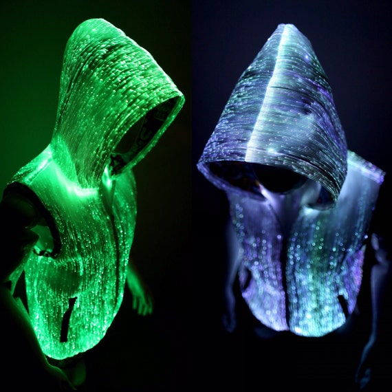 Light up hoodie for men edm clothing burning man clothes