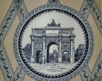MANUEL CANOVAS French Parisian ARCHITECTURAL Toile Fabric 10 Yards Khaki Beige White Black