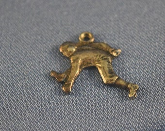 Football player 1930's sterling silver charm