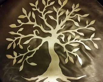 "22"" Bare Metal tree of life wall decor mantel decor home decor wall art tree art outdoor decor fall decor door hanger custom metal sign"