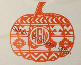 Aztec Pumpkin Long Sleeve Shirt