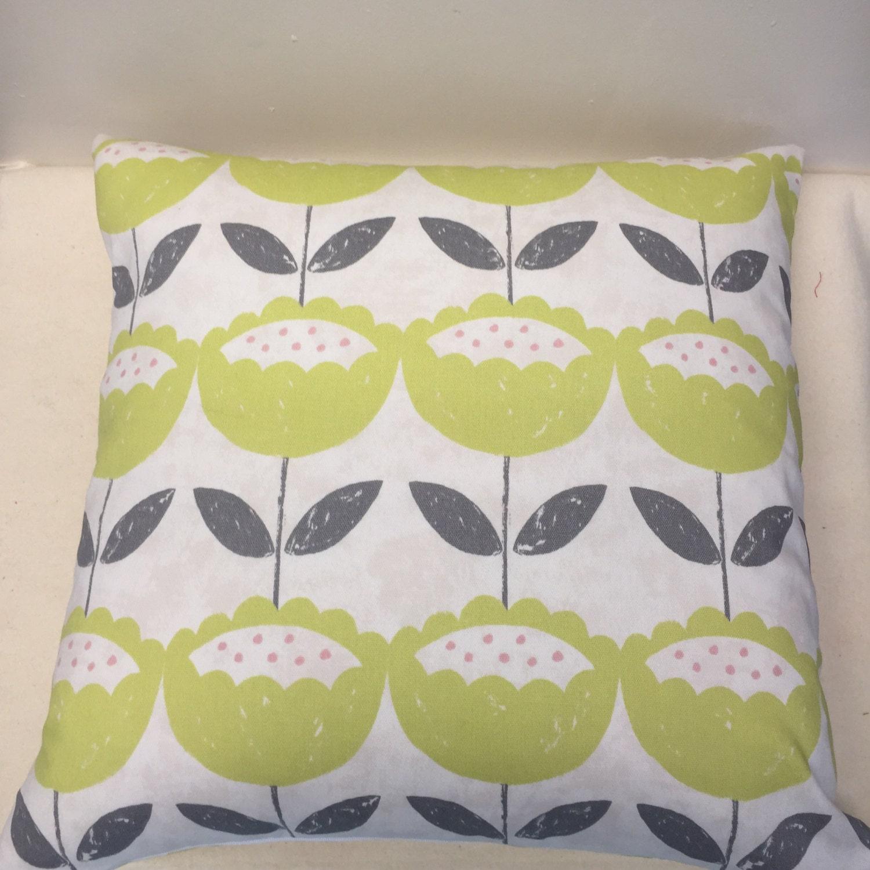 lime green floral cushion flower cushion lime cushion. Black Bedroom Furniture Sets. Home Design Ideas