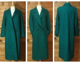 Vintage Wool Coat, Women's Overcoat, Maxi Coat, Long Wool Coat, Women's Long Coat, Vintage Overcoat, Wool Maxi Coat, Women's Coat / 12