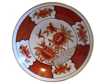 Chinese Brass-Encased Porcelain Bowl