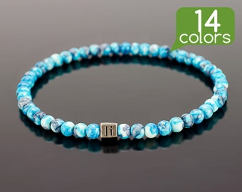 Cool bracelets - Cool bracelets for guys with silver plated bead. Find your cool mens bracelets in 14 color options!