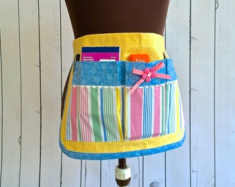 Vendor Apron, Craft Apron, Half Apron, Ready to Ship by 8th Day Encore