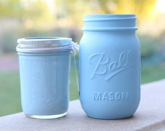 "Chalk Finish Paint in color ""Baby Blue"" 8oz"