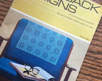 Chairback designs crochet by coats mercer 1009 vintage book