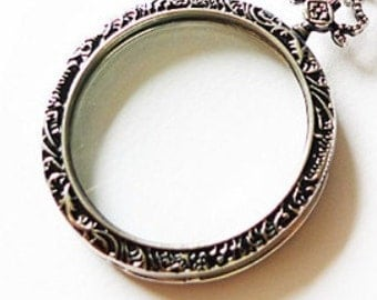 1pc 45mm Magnifying Glass Necklace Pendant no.18