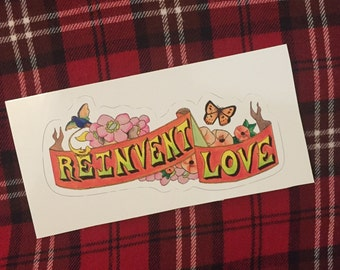 Panic at the Disco Reinvent Love Sticker