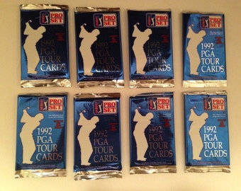 1992 set of 8 unopened PGA Tour cards by Pro Set - the official card of the PGA tour. #474