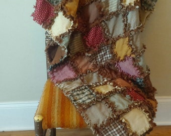 Handmade Throw Rag Quilt