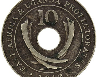 1912 British East Africa and Uganda Protectorates Ten Cents Coin