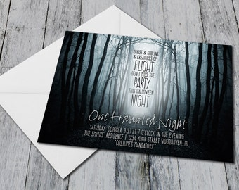 Haunted Forrest Halloween Invite (Printable)