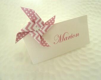10 marques place lapin en origami pour bapt me anniversaire. Black Bedroom Furniture Sets. Home Design Ideas