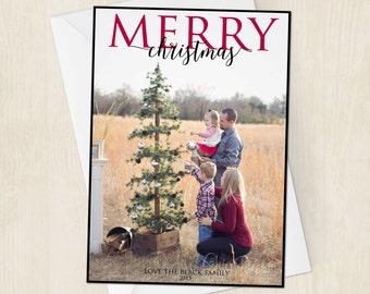 Christmas Card - Merry Christmas - Christmas Greetingn Card - Christmas Family Photo Card - Christmas 2015 - Digital/Printable File