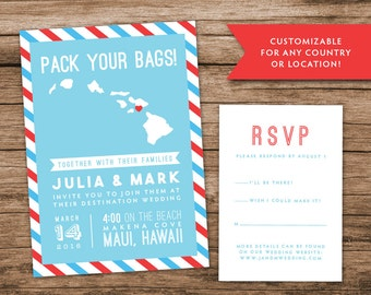 Passport wedding invitations – Etsy CA