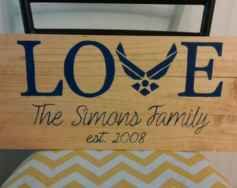 Love Air Force sign