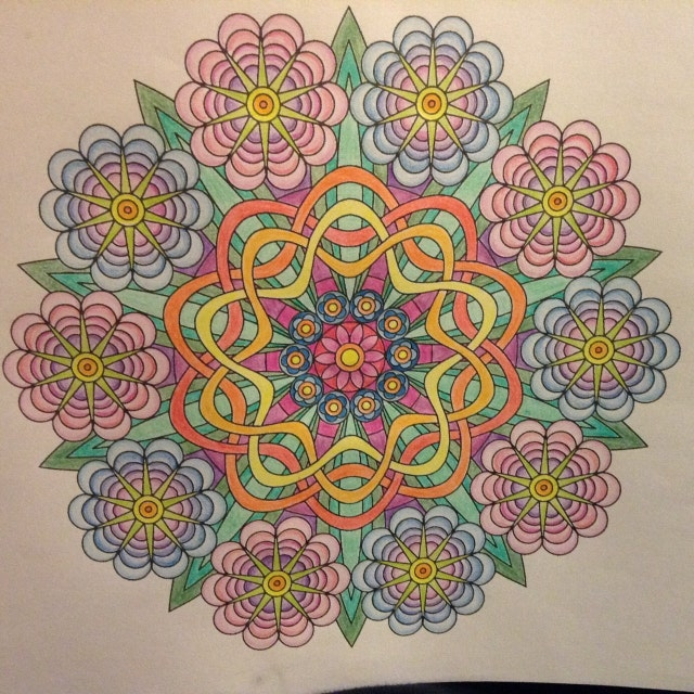 Flower Power adult coloring page mandala by Candy Hippie http://candyhippie.com