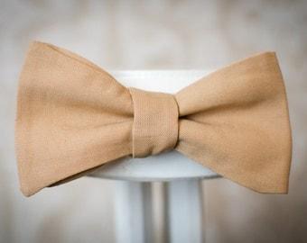 Mens bow tie vintage - cotton, vanilla, elegant, handmade
